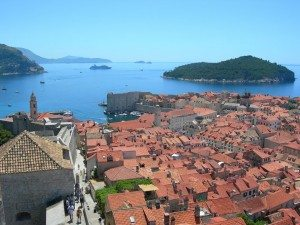 Dubrovnik old town from fortress